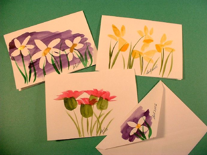 Hand-Painted Personalized Note Cards by Linda Lewis