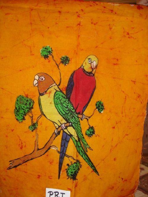 """""""Parrots"""" Batik Painting"""