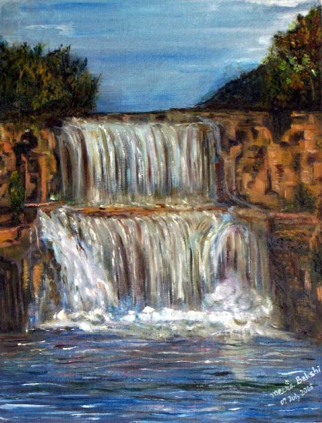 """Waterfall 2"" - Meera Bakshi"