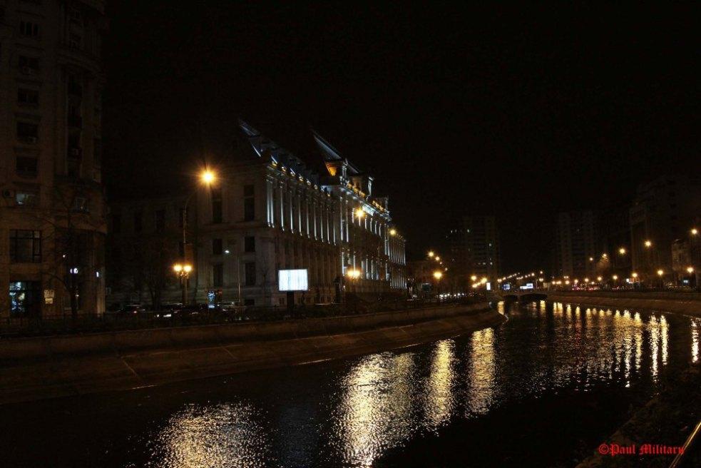 """""""Bucharest - Dambovita River at Night"""" - Paul Militaru Photography"""