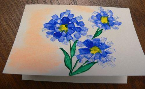 blueflowernpastelcard