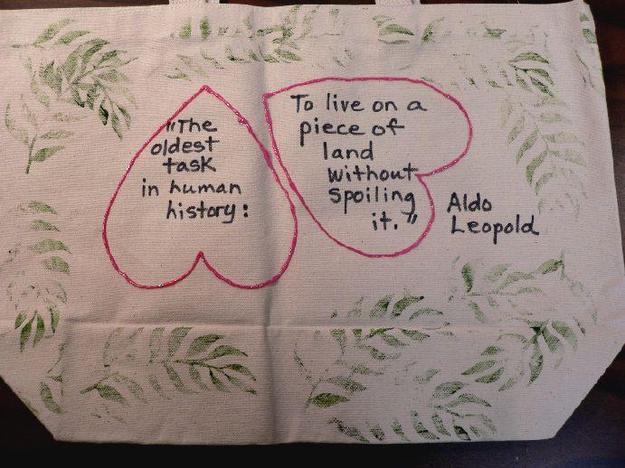 """""""Task"""" Grocery Tote Bag by Linda Lewis"""