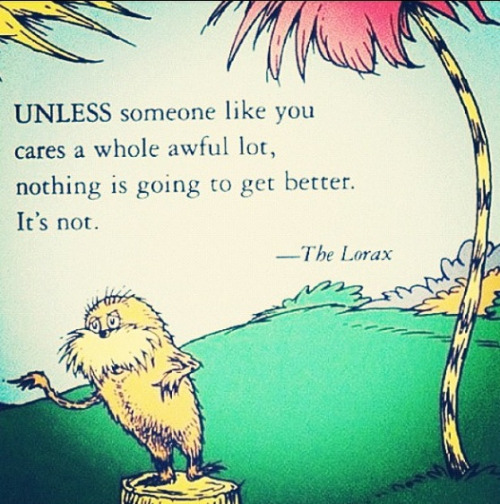 Dr. Seuss - The Lorax - via Encurious.com via Melissa A. Eastman