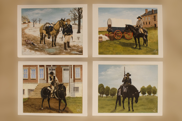 "4-Card ""Civil War Fort Smith, AR"" note card set by Linda Faber"