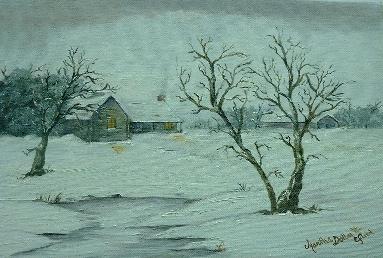 """""""Winter Dawn"""" - original painting by Martha Dollar Efurd"""