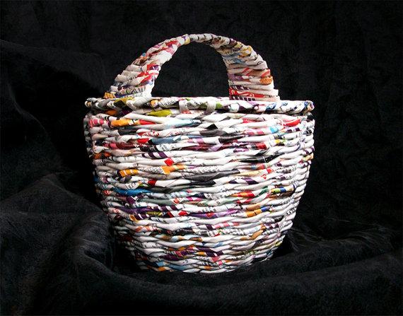 basket-fromnewspaper-pinterest