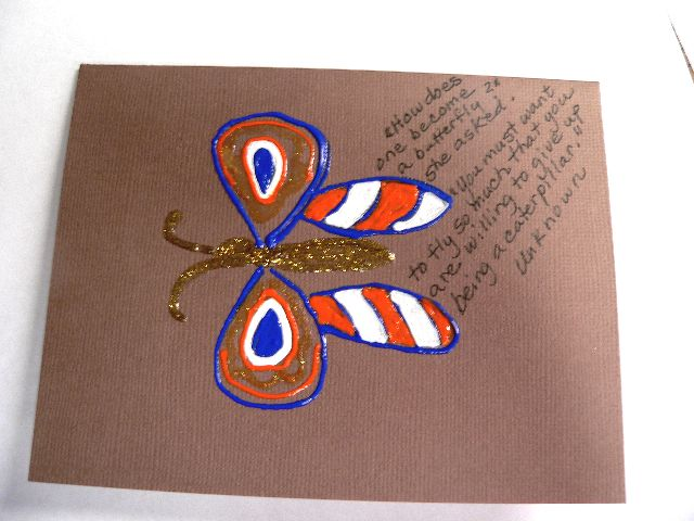 """Butterfly Quotes Series"" - Caterpillar by Linda Lewis"