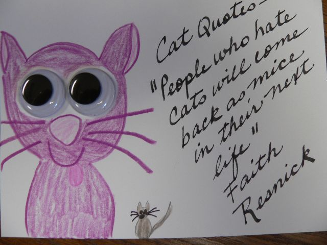 """Mice"" Cat Quotes Card by Linda Lewis"