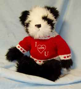 """Panda - I Love You"" Bear by Debbie Garrett"