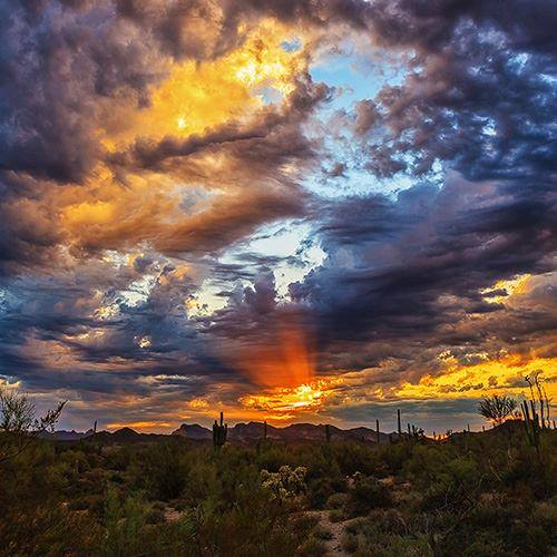 """Arizona - Painted by the Hand of God"" - Rick Serafin via Ann Gilstrap"