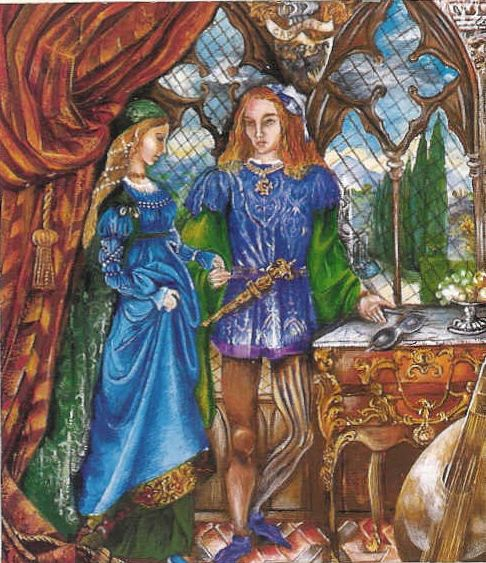 """Romeo-and-Juliet""-Greeting-Card by Jane Daniell"