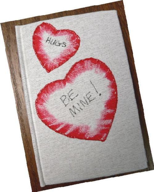 """Be Mine"" Hand-Painted Journal by Linda Lewis"