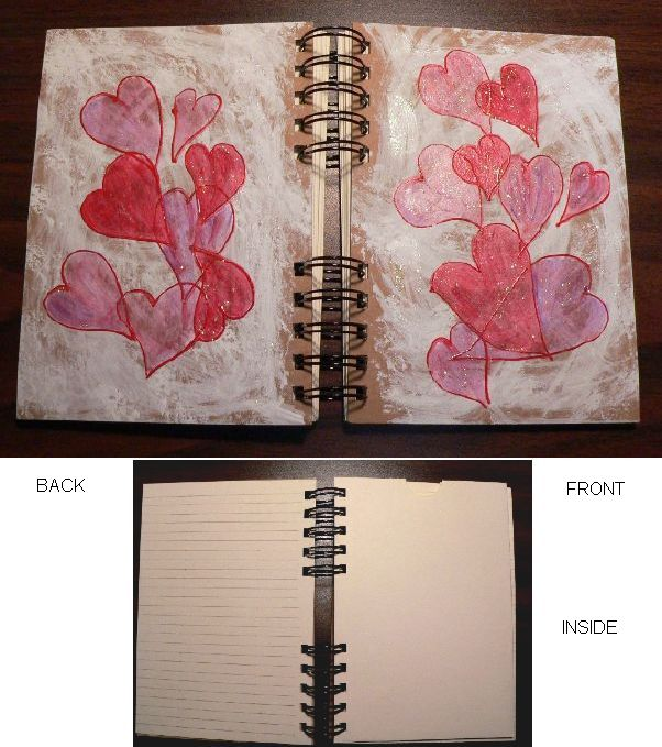 """Lovely Thoughts"" Hand-Painted Journal by Linda Lewis"